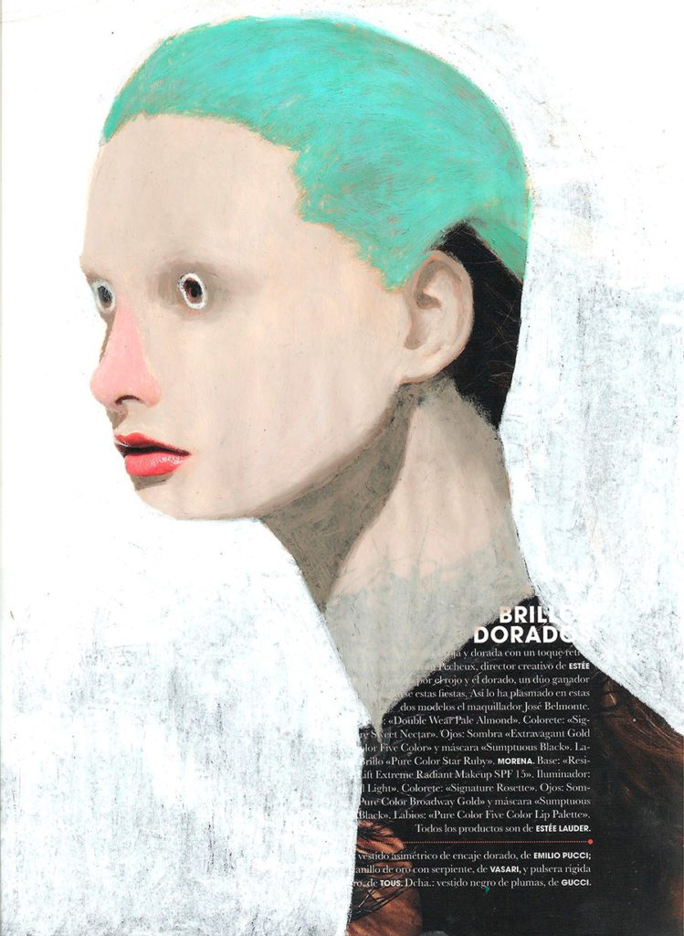 Mixed Media on Magazine by Guim Tio