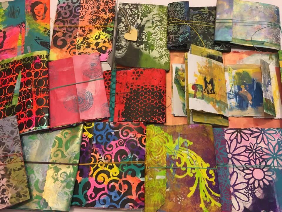 Handmade art journal workshop