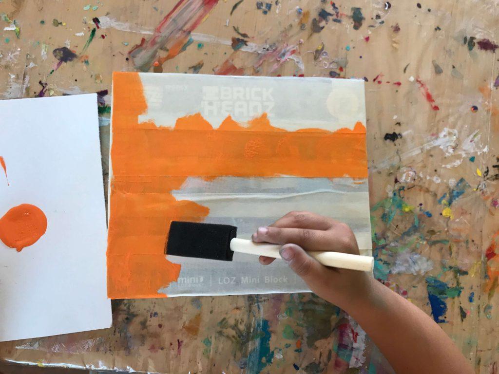 Recycled box canvas DIY