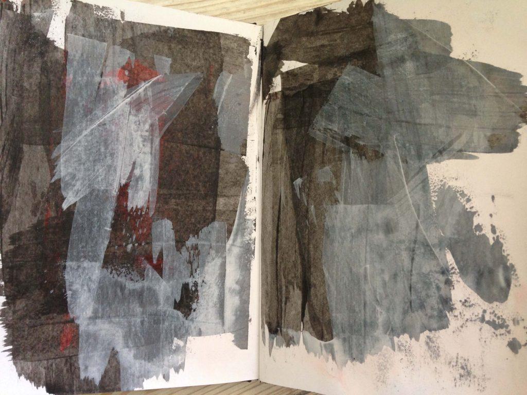 Art journaling background