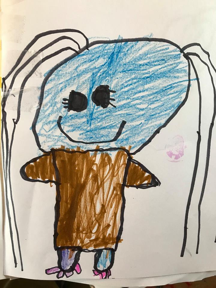 ציור של הבת שלי שהעתקתי