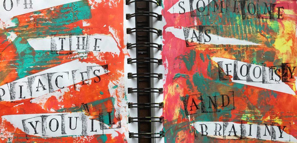 masking tape in my art journal