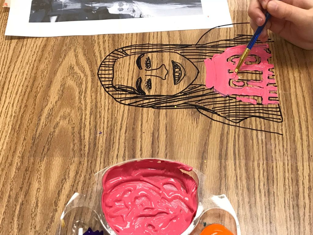 Third grade self portraits