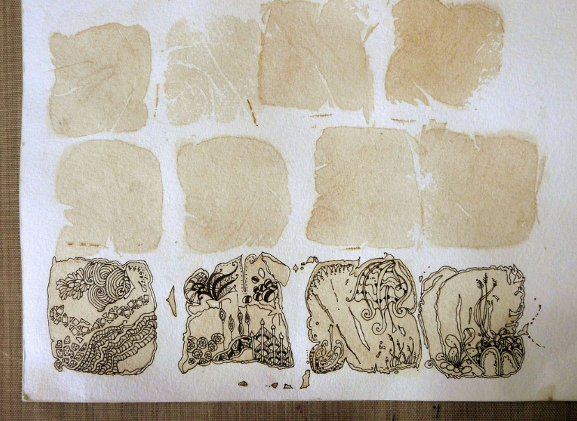 zentangles on tea by shoshiplatypus