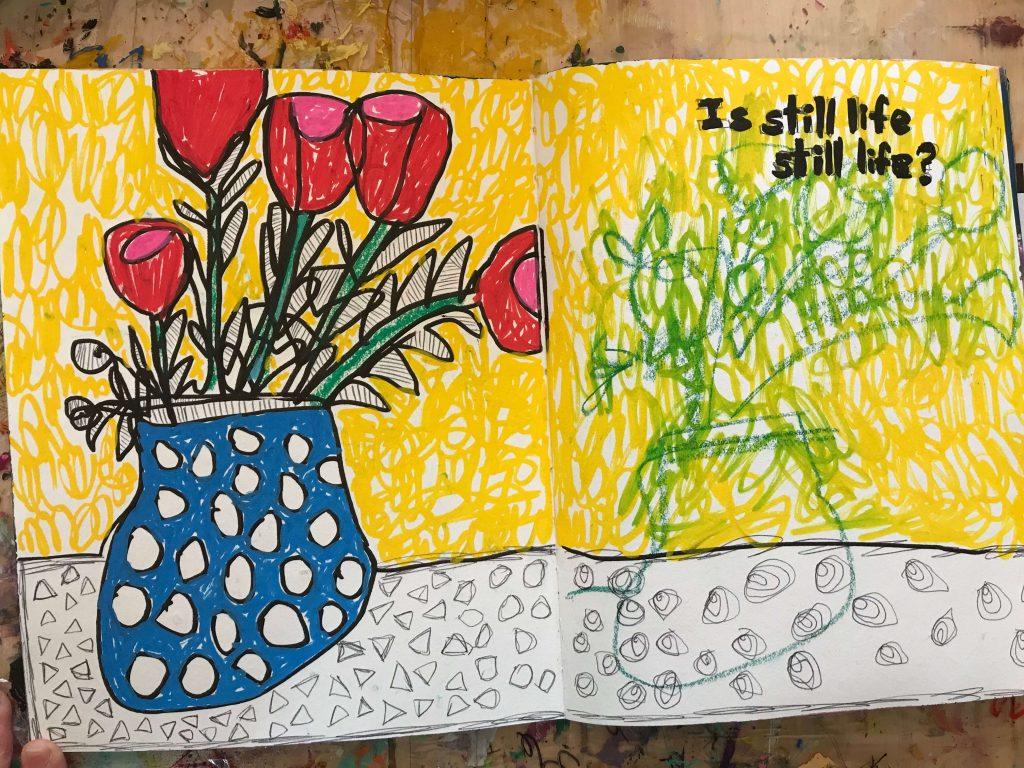 Flowers in my art journal