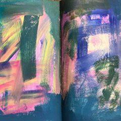 איך מתחילים לעבוד ביומן: כתמי צבע