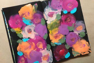 איך לצייר פרחים עם האצבעות