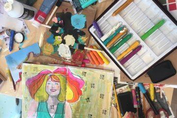 סדנת יומן חזותי (Art journaling)