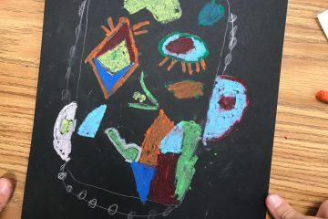 אמנות בכיתה ג': דיוקן בהשראת פיקאסו